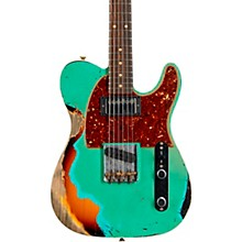 60s HS Telecaster Custom Heavy Relic Limited Edition Electric Guitar Aged Sea Foam Green over 3-Color Sunburst