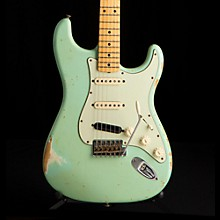 '60s Imperial Arc Stratocaster Maple Fingerboard SSS Masterbuilt by Paul Waller Surf Green over Olympic White