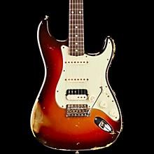 Fender Custom Shop '60s Imperial Arc Stratocaster Rosewood Fingerboard HSS Masterbuilt by Dale Wilson Electric Guitar Aztec Gold over 3-Color Sunburst