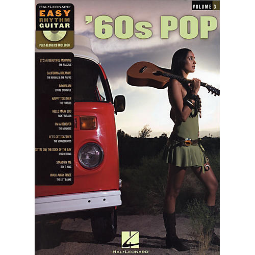 Hal Leonard 60s Pop Easy Rhythm Guitar Series Volume 3 Guitar Tab Songbook with CD