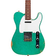 60s Relic Telecaster Custom Electric Guitar Aged Sea Foam Green Sparkle