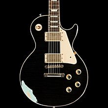 Gibson Custom 60s Standard Historic Les Paul Lightly Aged Electric Guitar Black Over Kerry Green