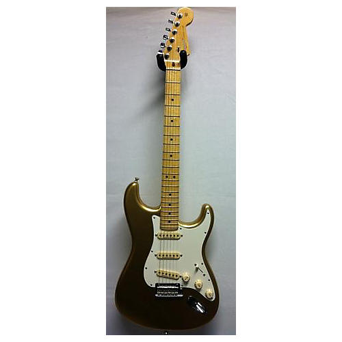 used fender 60th anniversary american standard stratocaster solid body electric guitar aztec. Black Bedroom Furniture Sets. Home Design Ideas