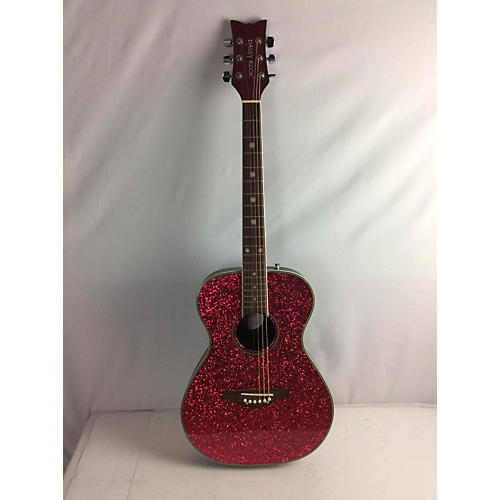 used daisy rock 6205l acoustic guitar pink sparkle guitar center. Black Bedroom Furniture Sets. Home Design Ideas