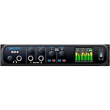MOTU 624 Thunderbolt / USB3 / AVB Ethernet audio interface with DSP and mixing Level 1