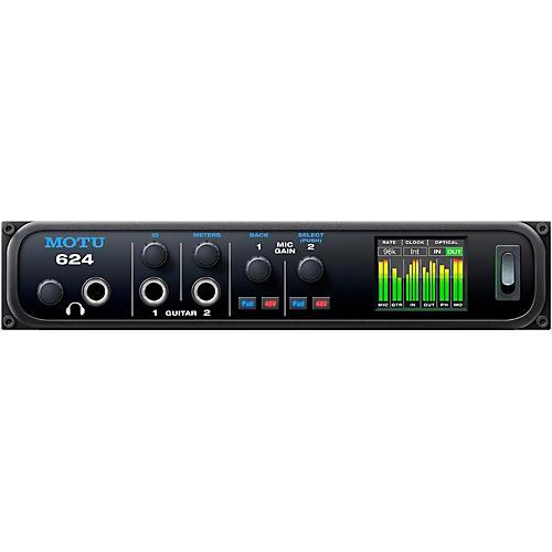 MOTU 624 Thunderbolt / USB3 / AVB Ethernet audio interface with DSP and mixing