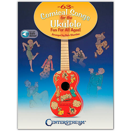 Centerstream Publishing 63 Comical Songs for the Ukulele (Fun for All Ages!) Book/Audio Online