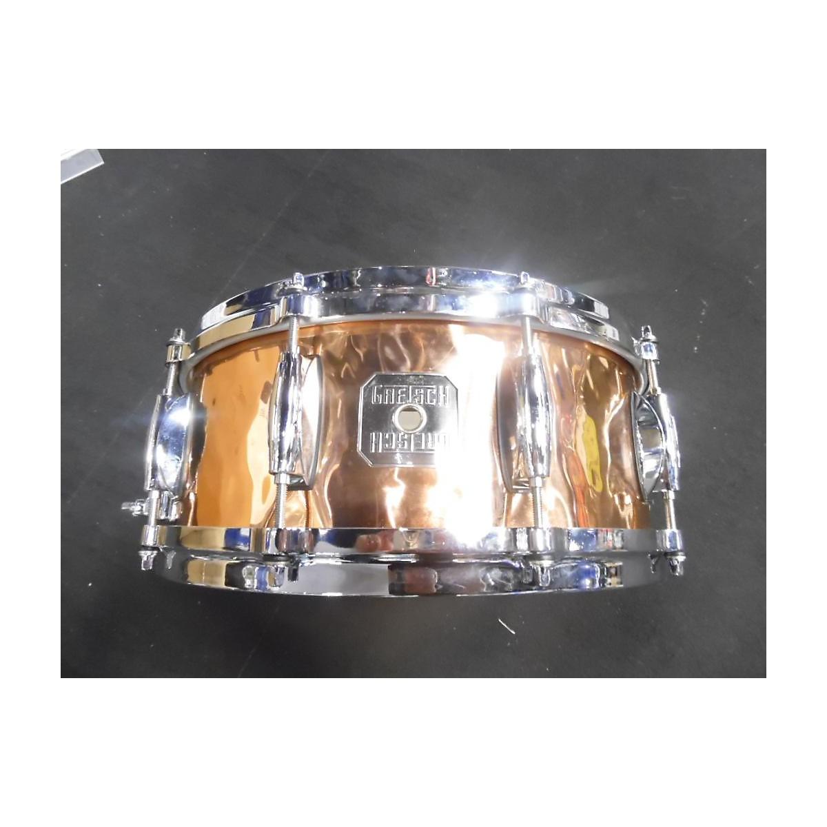 Gretsch Drums 6X14 Hand Hammered Copper Snare Drum