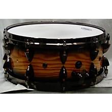 Orange County Drum & Percussion 6X14 Maple Snare Drum Natural Black Burst Drum