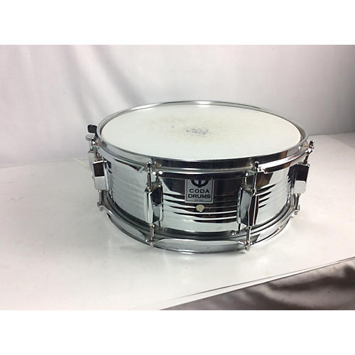 used coda drums 6x14 snare drum chrome 13 guitar center. Black Bedroom Furniture Sets. Home Design Ideas