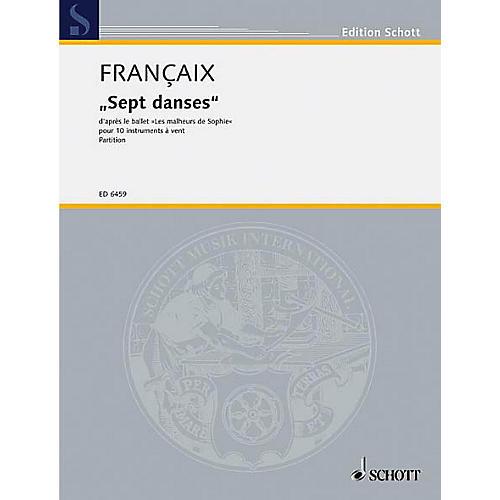 Schott 7 Dances from Les Malheurs De Sophie (Score) Schott Series by Jean Françaix