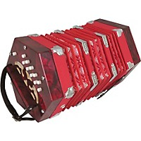 Musician's Gear 20-Button Concertina Red
