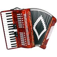 Sofiamari Sm 3472 34 Piano 72 Bass Button Accordion Red Pearl