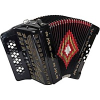 Sofiamari Sm-3412 34-Button 12-Bass Accordion Gcf Black Pearl
