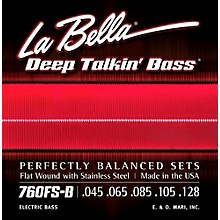LaBella 760FS-B Deep Talkin' Bass Flat Wound Standard 5-String Electric Bass Strings