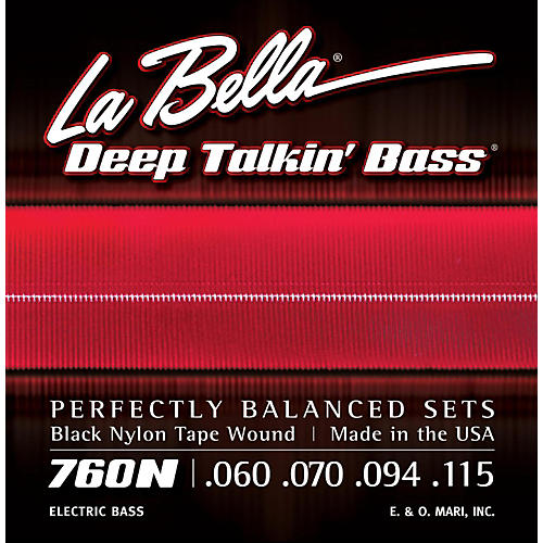 LaBella 760N Black Nylon Tape Wound Standard Electric Bass Strings