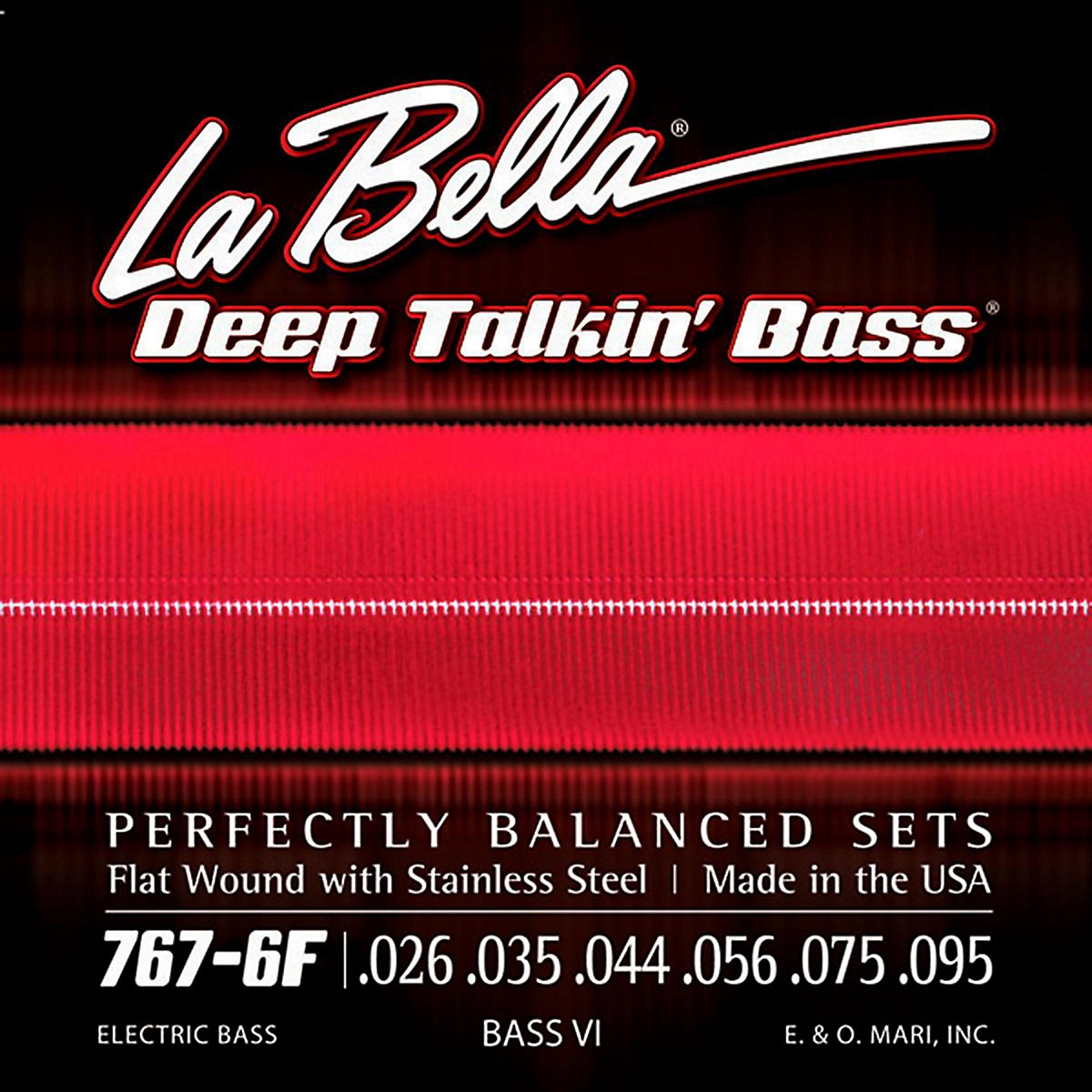 LaBella 767-6F Flat Wound 6-String Bass VI Strings