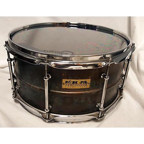 Pork Pie 7X13 Brass Patina Snare Drum Drum