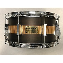 Pork Pie USA 7X13 Exotic Rosewood Zebrawood Snare Drum
