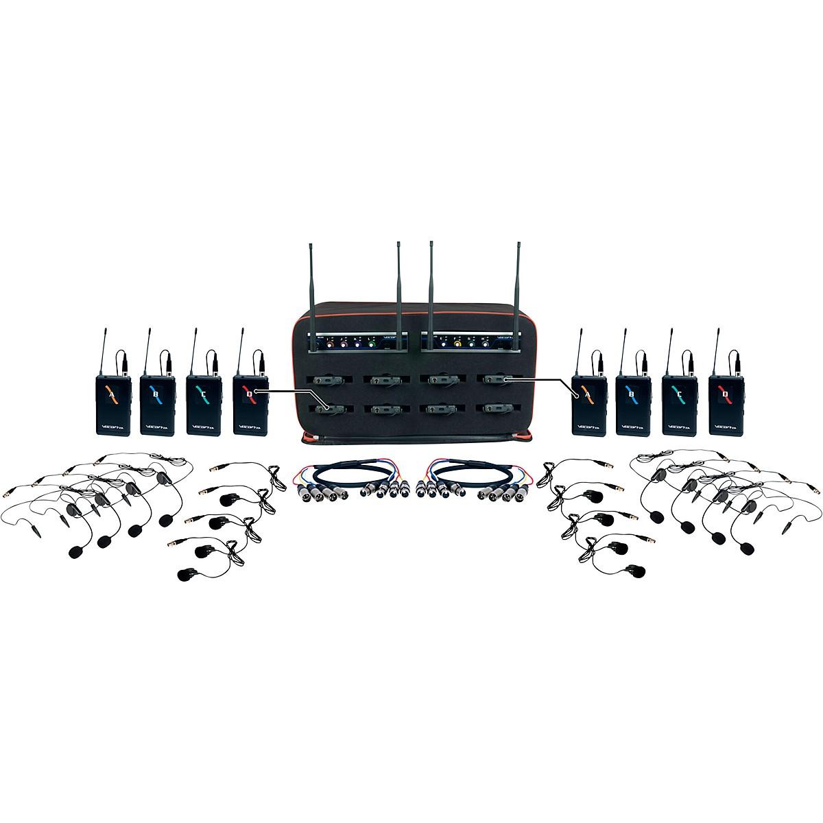 VocoPro 8 Channel Wireless Headset/Lapel Mic-In-Bag Package