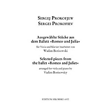 Sikorski 8 Pieces from Romeo and Juliet (for Viola and Piano) String Series