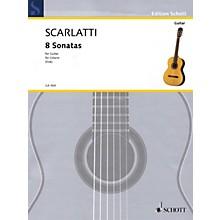 Schott 8 Sonatas (Transcribed for Guitar) Guitar Series Softcover