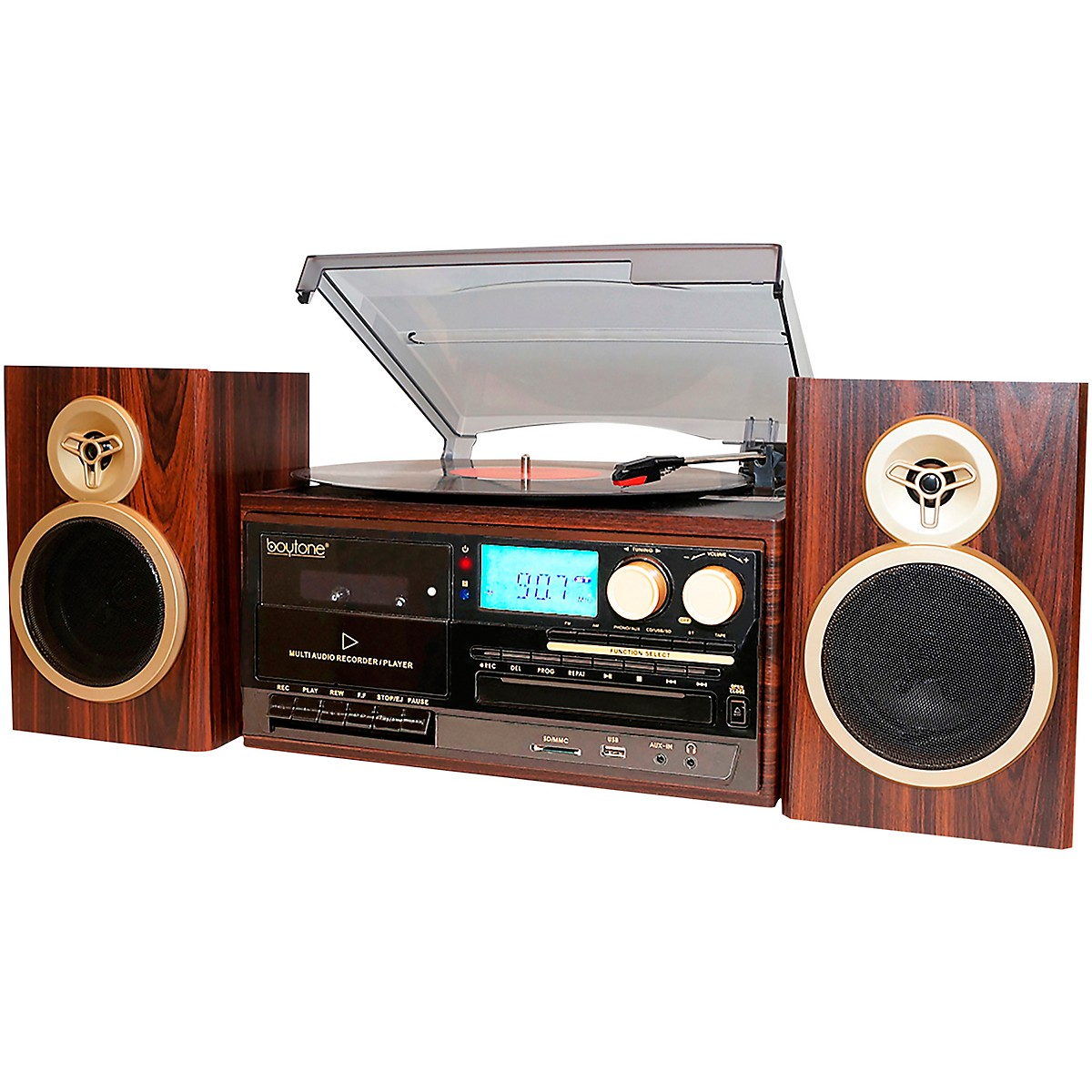 Boytone 8-in-1 Bluetooth Classic Style Record Player