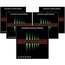 Musician's Gear 80/20 Bronze Acoustic Guitar StringsLight 5-Pack