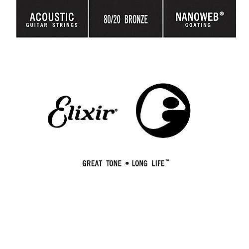 Elixir 80/20 Bronze Single Acoustic Guitar String with NANOWEB Coating .047