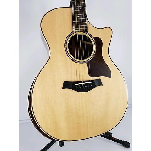 used taylor 814ce dlx v class acoustic guitar natural guitar center. Black Bedroom Furniture Sets. Home Design Ideas