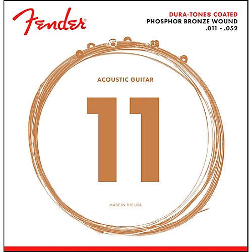 Fender 860CL Phosphor Bronze Dura-Tone Coated Acoustic Guitar Strings 11-52
