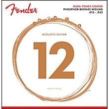 Fender 860L Phosphor Bronze Dura-Tone Coated Acoustic Guitar Strings 12-53