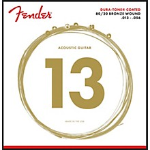 Fender 880M Dura-Tone 80/20 Coated Acoustic Guitar Strings 13-56