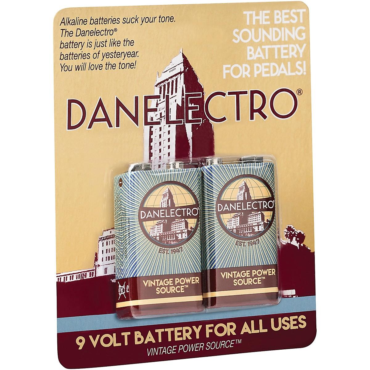 Danelectro 9-Volt Vintage Style Batteries 2-Pack