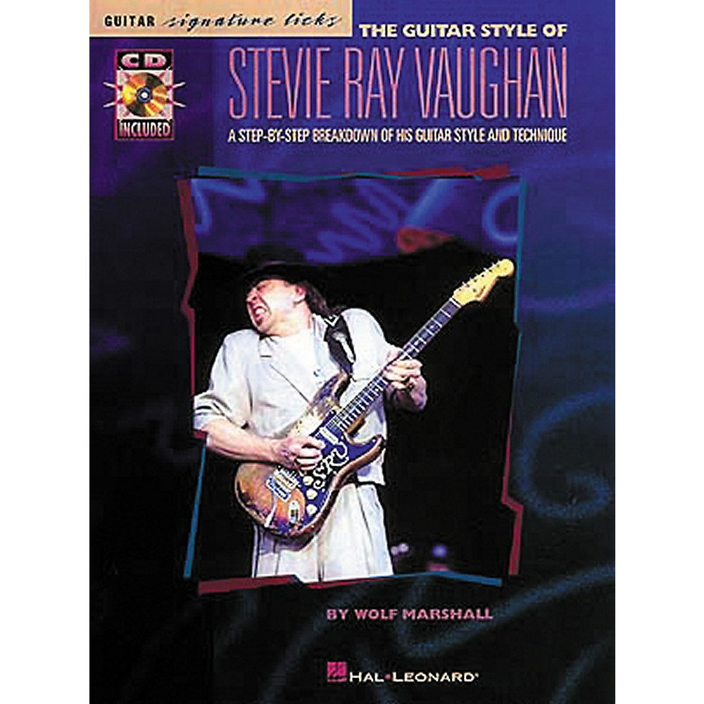 Hal Leonard The Style of Stevie Ray Vaughan Guitar Signature Licks Book with CD 1274034472179