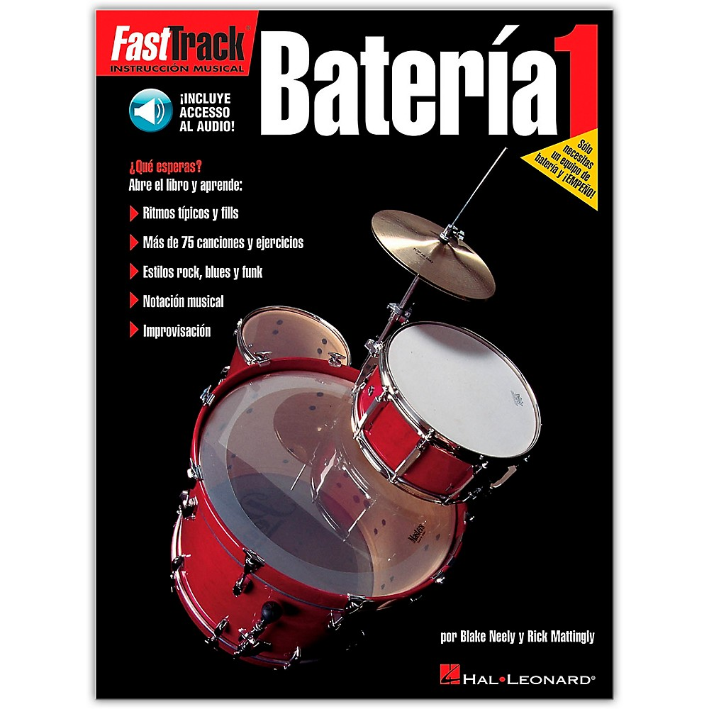 Hal Leonard Fasttrack Bateria 1 Spanish (Book/Online Audio)