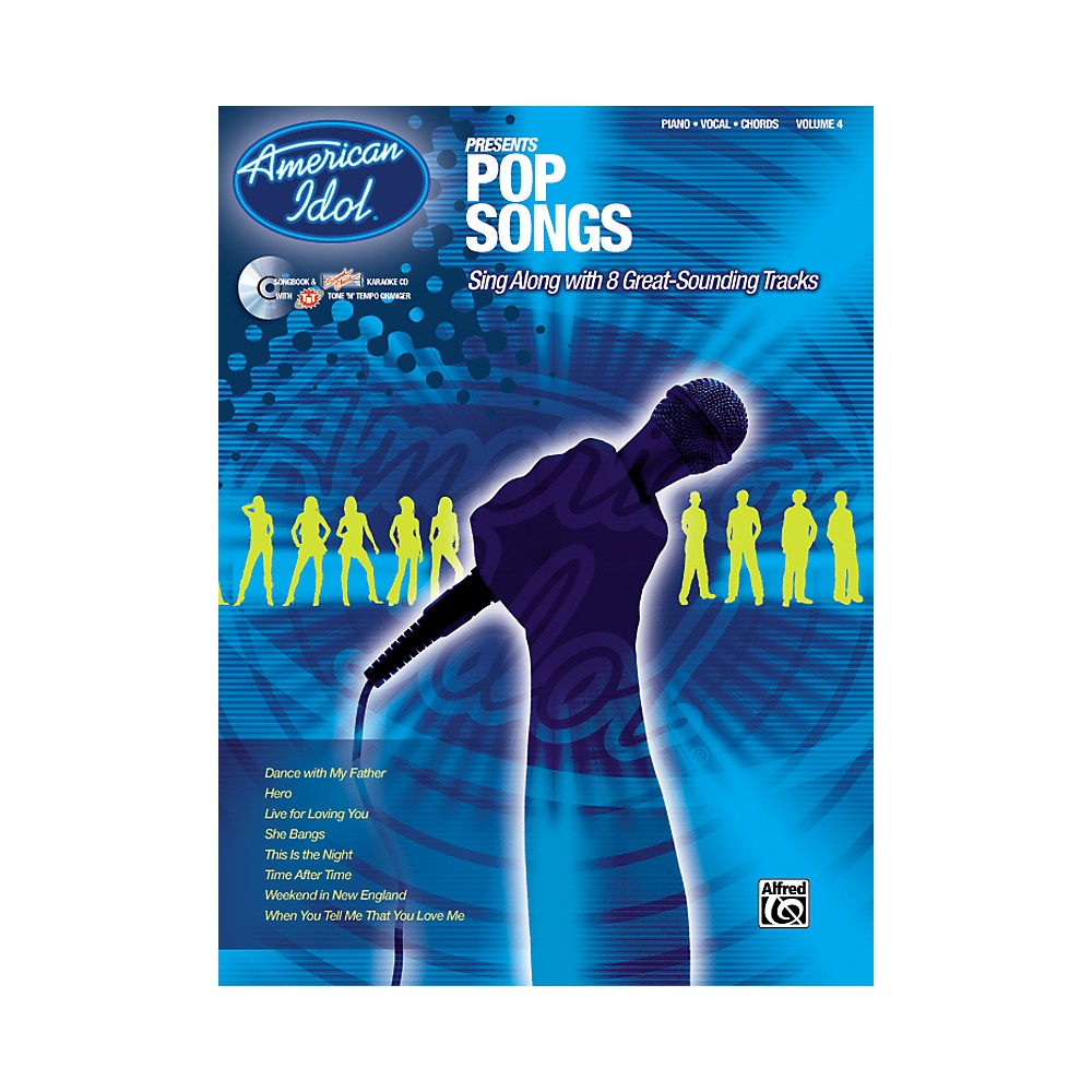 Alfred American Idol Presents Pop Songs Book And Cd 1273887984400