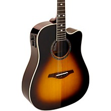 A+ AS355CE Solid Top Cutaway Dreadnought Acoustic-Electric Guitar With Gig Bag Level 2 Tobacco Sunburst 190839322036