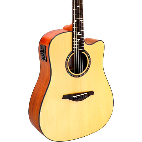 Hohner A+ AS355CE Solid Top Cutaway Dreadnought Acoustic-Electric Guitar With Gig Bag