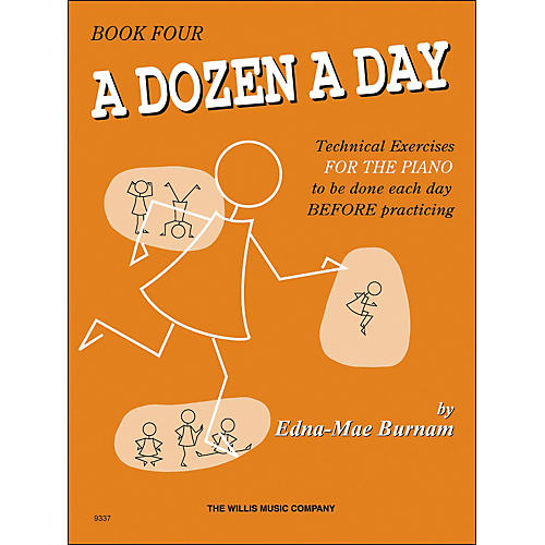 Willis Music A Dozen A Day Book 4 Technical Exercises for Piano