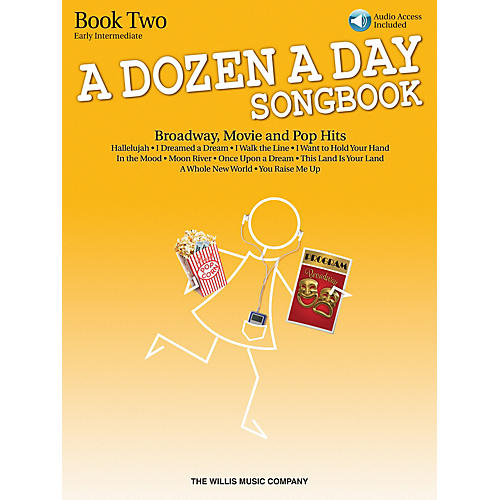 Willis Music A Dozen A Day Songbook - Book 2 (Early Inter Level) Willis Series Book with CD by Various