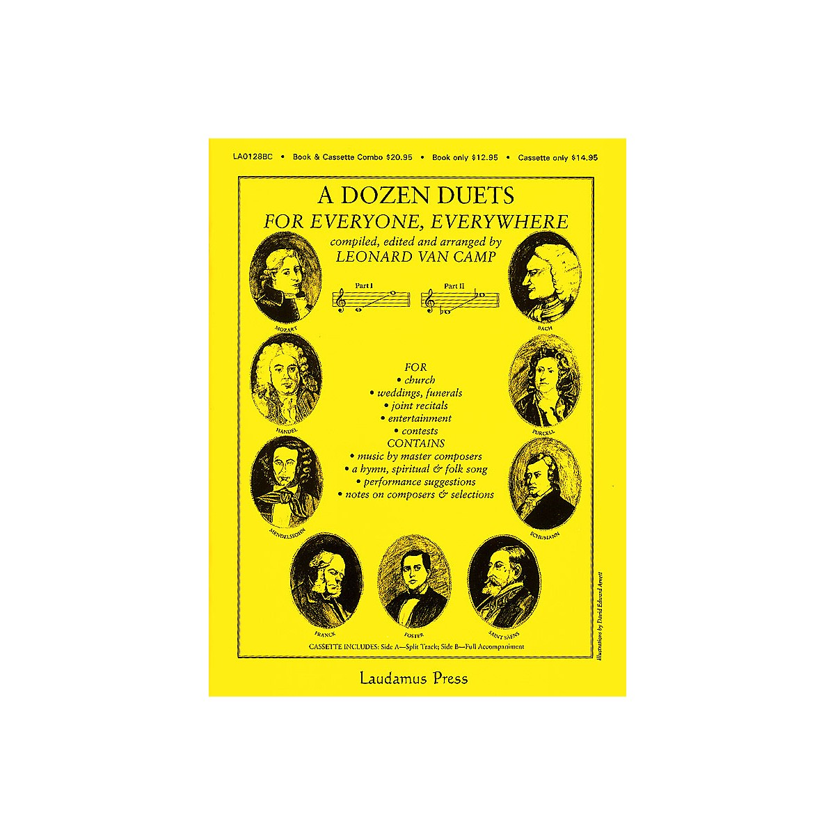 Laudamus Press A Dozen Duets - Vocal Duets (Compiled, edited and arranged by Leonard van Camp) by Leonard Van Camp