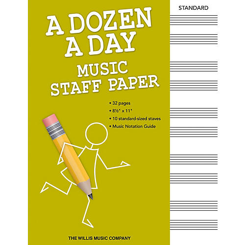 Willis Music A Dozen a Day - Music Staff Paper Willis Series Softcover Written by Edna Mae Burnam