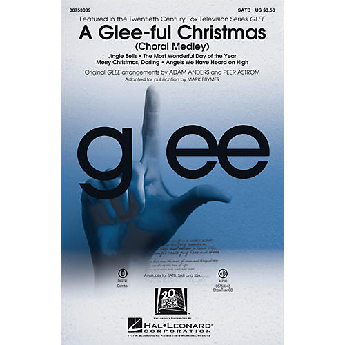 Hal Leonard A Glee-ful Christmas (Choral Medley) ShowTrax CD by Glee Cast Arranged by Adam Anders
