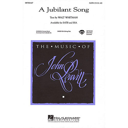 Hal Leonard A Jubilant Song SSA Composed by John Leavitt