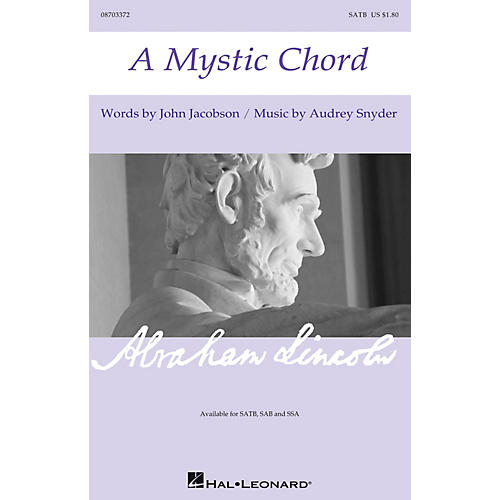 Hal Leonard A Mystic Chord SATB composed by Audrey Snyder