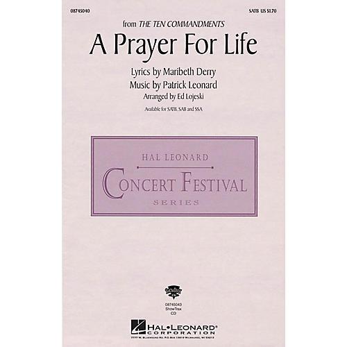 Hal Leonard A Prayer for Life (from The Ten Commandments) ShowTrax CD Arranged by Ed Lojeski