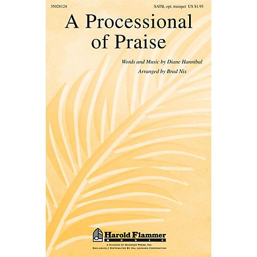 Shawnee Press A Processional of Praise SATB, TRUMPET arranged by Brad Nix