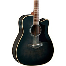 A-Series A1M Cutaway Dreadnought Acoustic-Electric Guitar Transparent Black