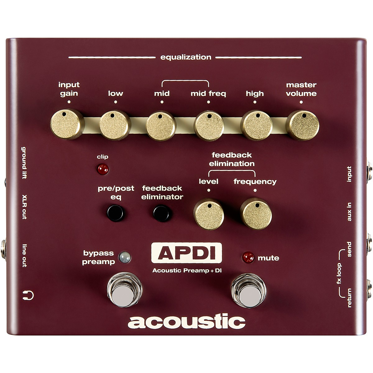 Acoustic A Series Acoustic Instrument Preamp and DI Pedal